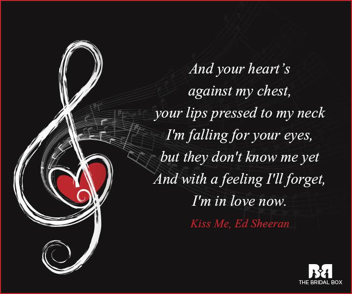 Music Love Quotes Kiss Me Ed Sheeran
