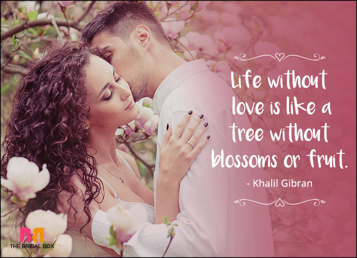 One Line Love Quotes Khalil Gi N