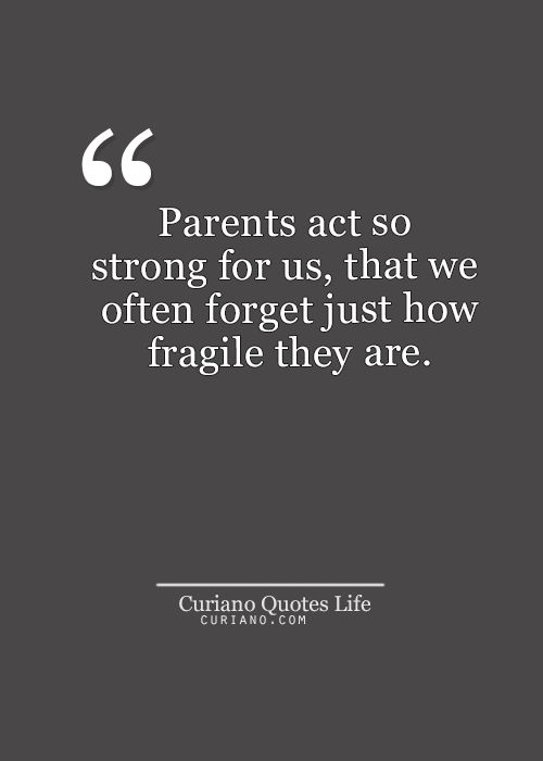 Parents Act So Strong For Us That We Often Forget Just How Fragile They Are