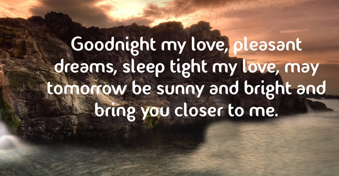 Romantic Inspiring Good Night Quotes For Him
