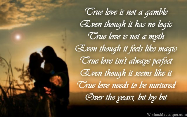 Romantic Poem About True Love For En Ement Card