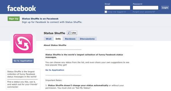 Status Shuffle On Facebook