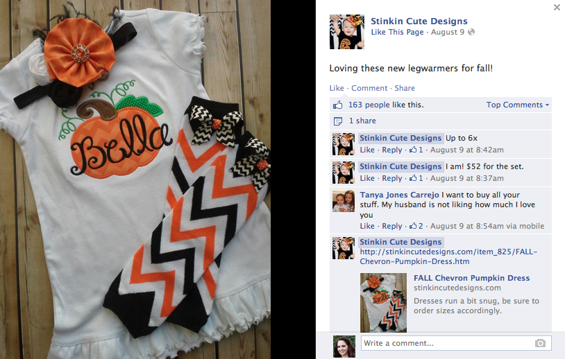 Facebook Status Updates Stinkin Cute Designs Example