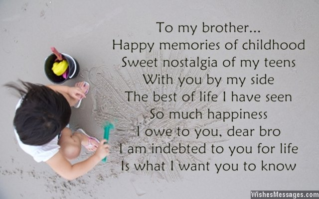 I Love You Poems For Brother