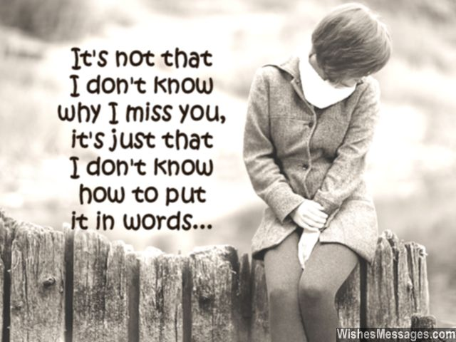 Sweet I Miss You Card Message To Boy From Girl