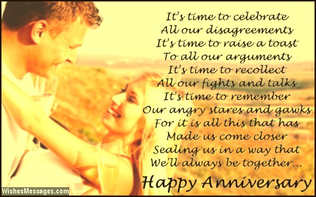 Sweet Anniversary Poem To Husband From Wife