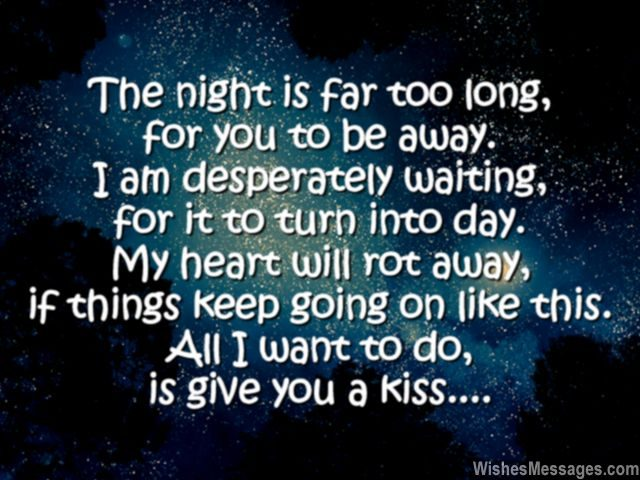 Sweet Good Night Quote Message For Her Kiss Missing You