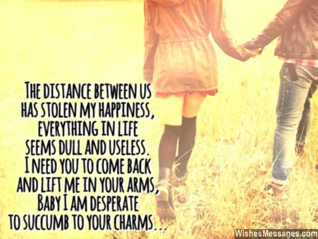 Sweet I Miss You Message For Boyfriend Girlfriend