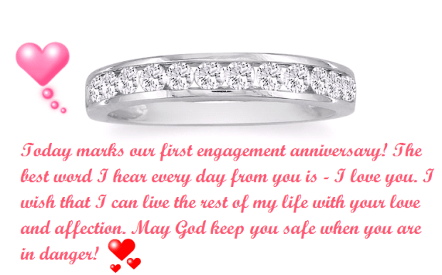 Happy St En Ement Anniversary Status For Fiance And Wife