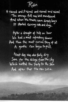 I Love Falling Asleep To The Sound Of Rain Rain Beautiful Poetry And Wisdom