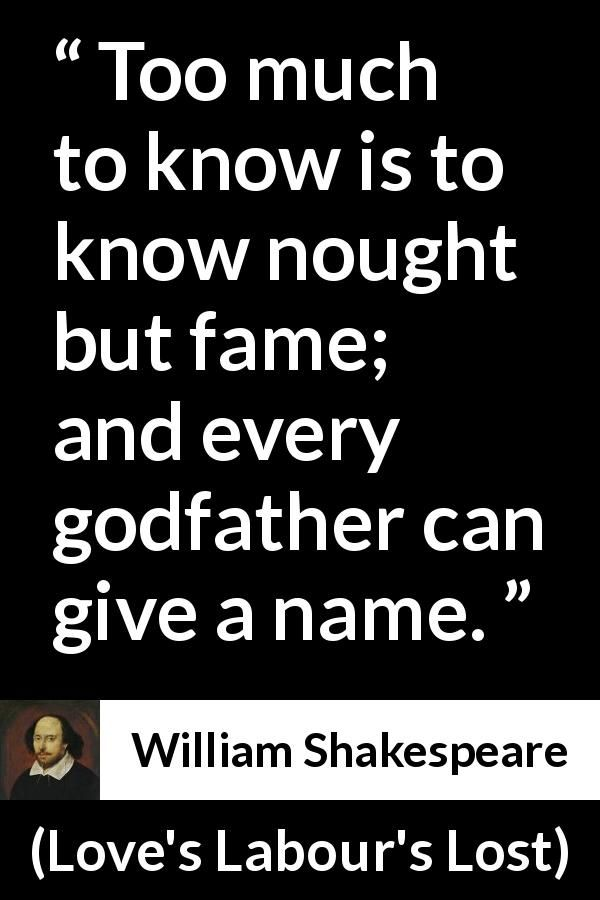 William Shakespeare Quote About Fame From Loves Labours Lost