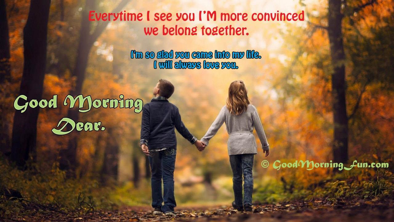 Good Morning Love Childhood Love Couple Hd Wallpaper