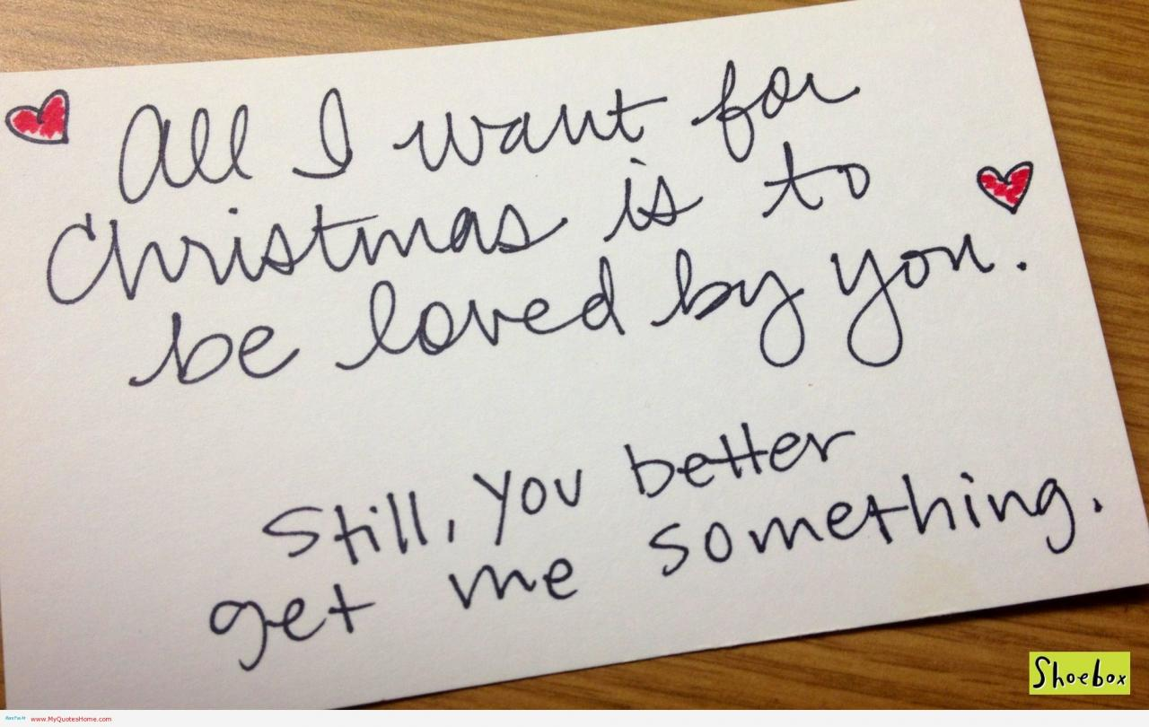 Cute Christmas Love Quotes And Sayings