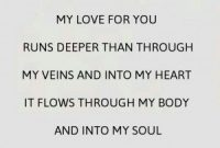 Awesome Template Deep Love Quotes For Him Best Wordig For You Run Deeper Than My Veins