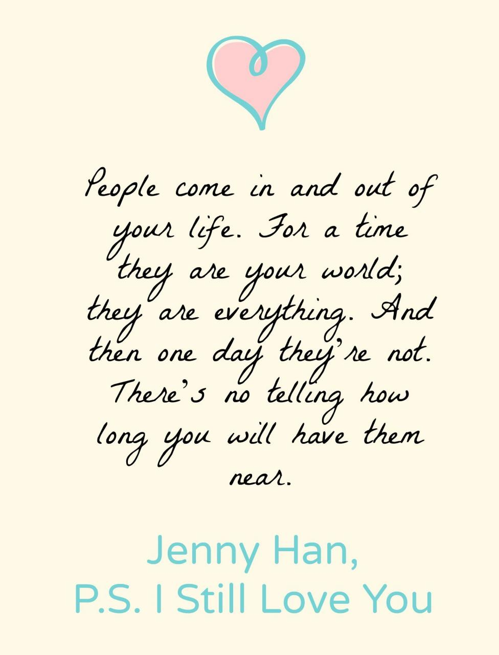 P S I Still Love You To All The Boys Ive Loved Before  Favorite Book Quotesdaily
