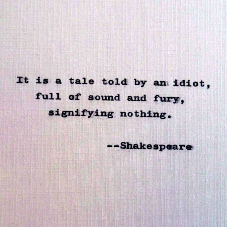 Idiot Quotes | New To Roguerypress On Etsy Shakespeare Quote About An Idiot Quote