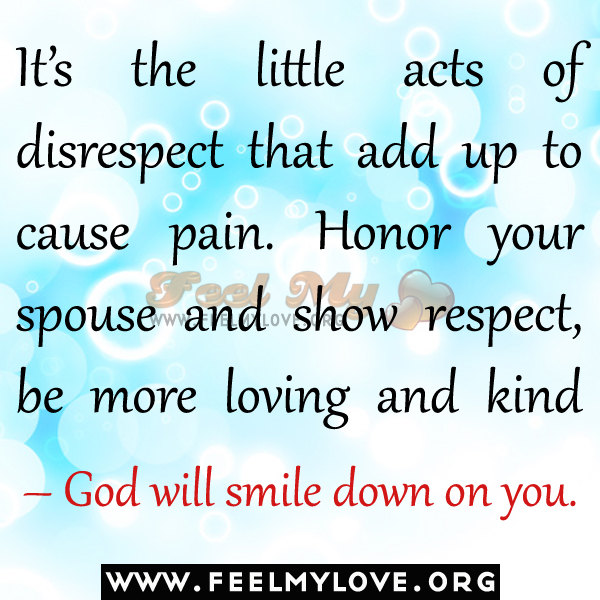 Honor Your Spouse And Show Respect