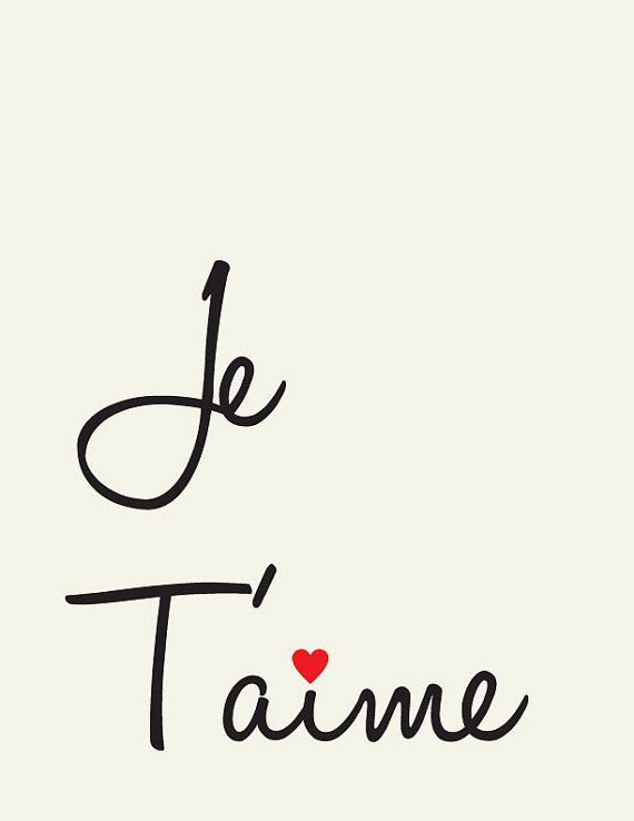 Je Taime I Love You French Love Quote