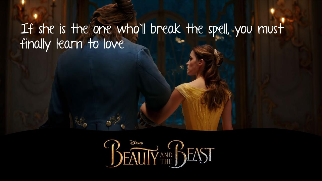 Beauty And The Beast Quotes Hover Me