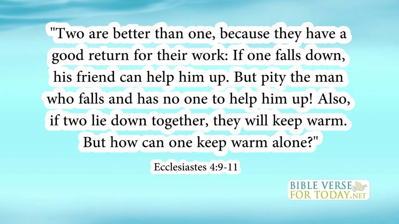 Bible Quotes On Friendship And Love Bible Verse About Friendship Ecclesiastes