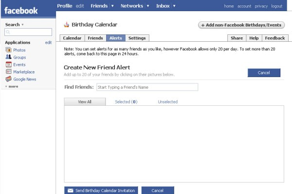 Wall Post Makes Great Joy For The Facebook Global Users This Birthday Calendar App Successfully Compiles All Your Friends Birthdays Into A Convenient