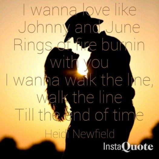 Johnny And June Heidi Newfield Quote Country S Sunset