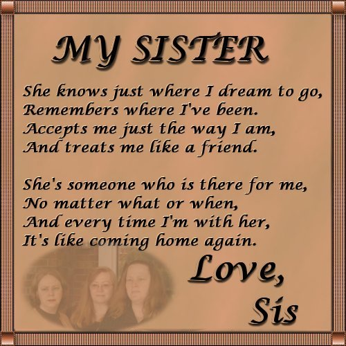 I Love Quotes For Sisters Love You Sister Poems  I Love You Sister Poems