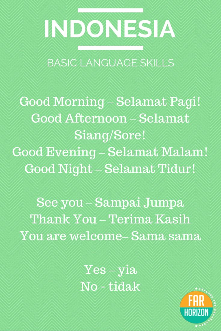Reblogged Bahasa Indonesia Basic Indonesian Words Indonesian Language Bahasa