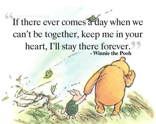 Cartoon Cute Love Quote Winnie The Pooh