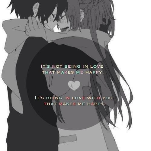 Love Anime Quotes Custom Love Quotes With Anime Pics Hover Me