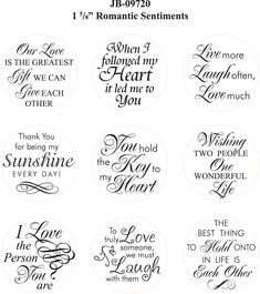 Introducing Justrite Romantic Sentiments