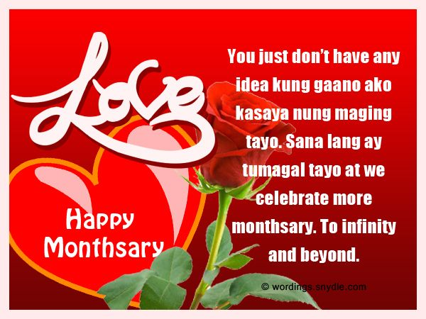 Tagalog Monthsary Messages Wordings And Messages