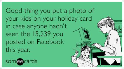 Christmas Card Children Kids Posts Facebook Funny Ecard