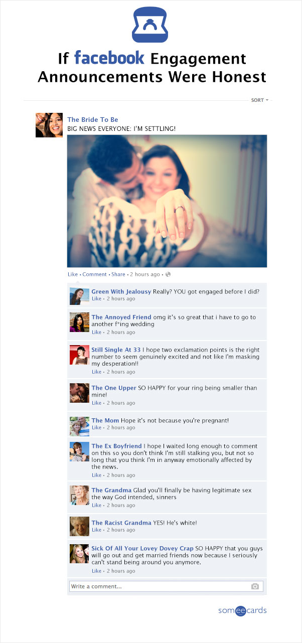 Cute Engagement Announcements For Facebook Funny Wedding Announcements Free