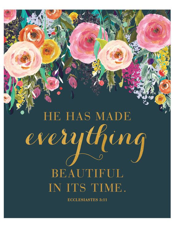 He Has Made Everything Beautiful Print By Loveandgraceco On Etsy Ecclesiastes