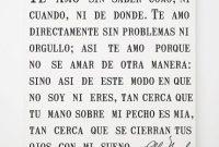 Spanish Pablo Neruda Love Canvas Sonnet Poem Romantic Quotes Bedroom Art
