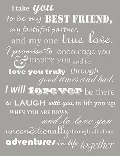 I Want This Said At My Wedding Love You Quotes