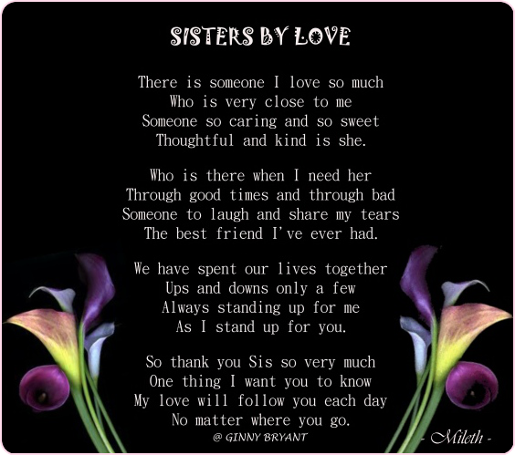 A Poem About Sister Love Sisters By Love P O Sistersbylove Png