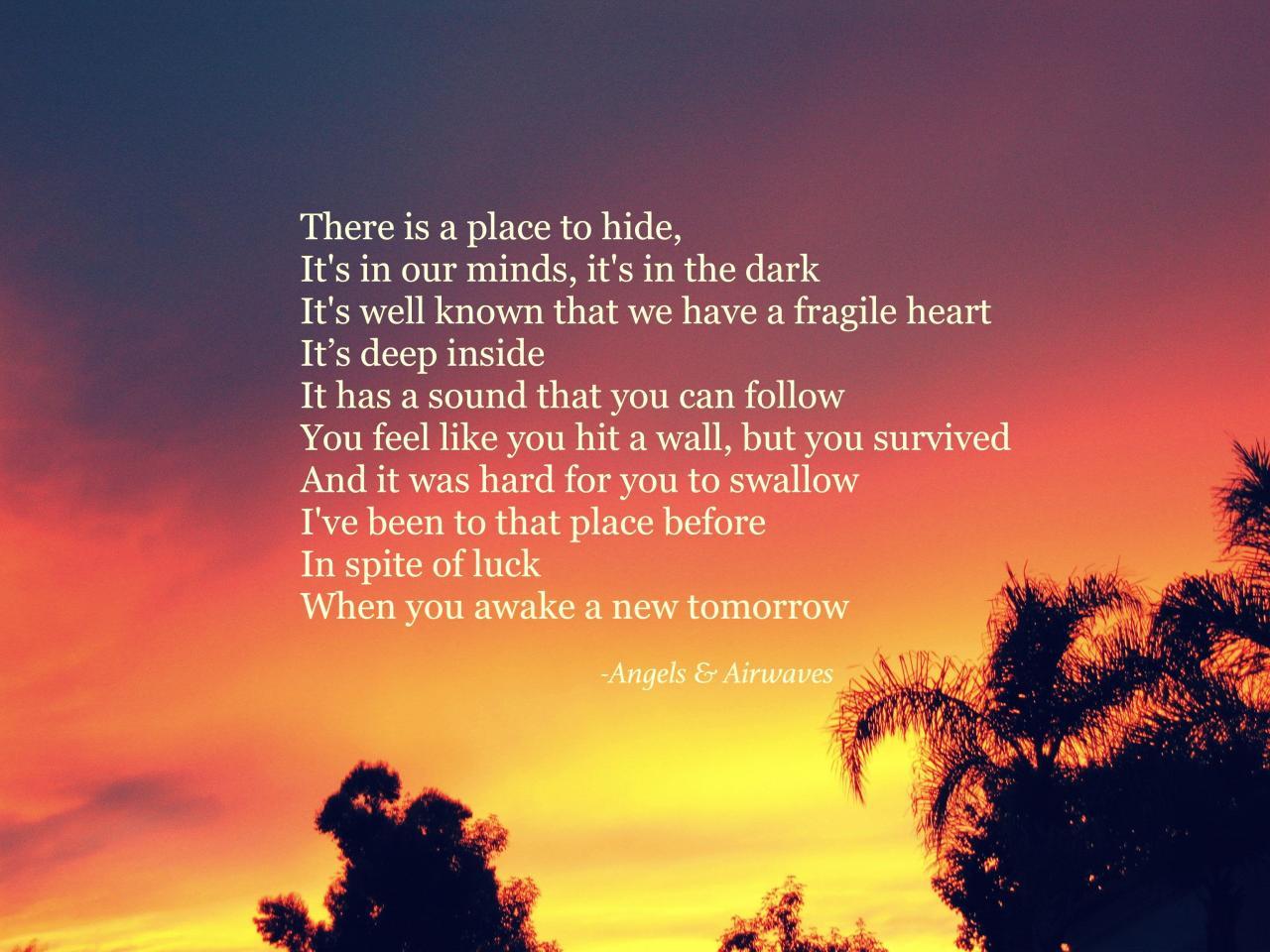 Angels And Airwaves Surrender Lyrics