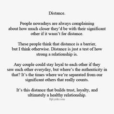 Distance Is A Test Of Strength A Hard Test But A Test Worth Pushing Through