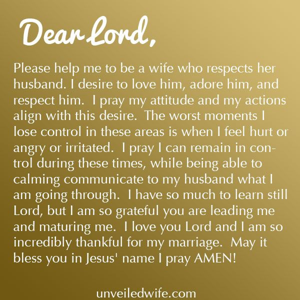 Prayer Of The Day Respecting My Husband