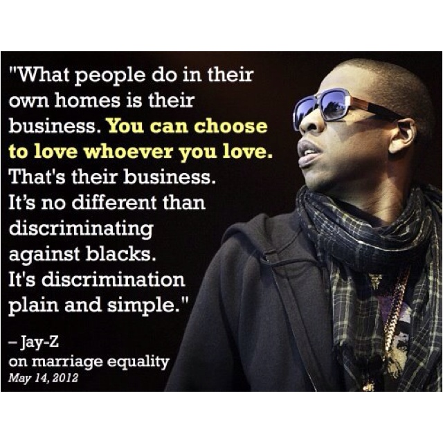 Jay Z On Marriage Equality Lgbt Allies
