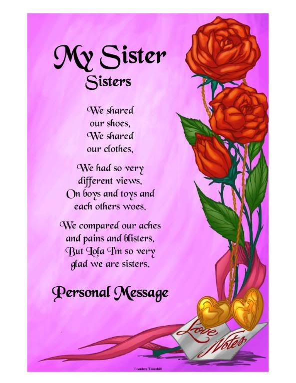 Pics P Os Sister Poems Poetry About Sisters Family Birthday Verses Quotes