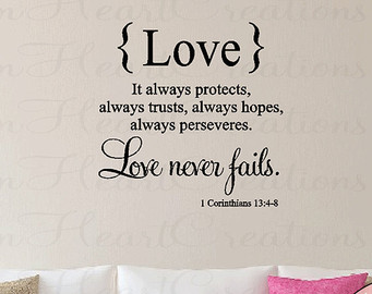 Digital Printings Love Quotes For Weddings Graphics Phrases Corinthians Remarkable Proverbs Bible Verse Protects Homes Decals