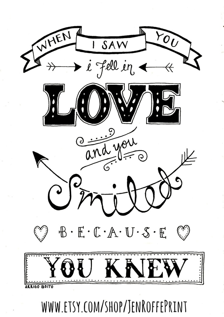 Black And White Love Quotes Simple Drawn Typeface Black And White Pencil And In Color Drawn