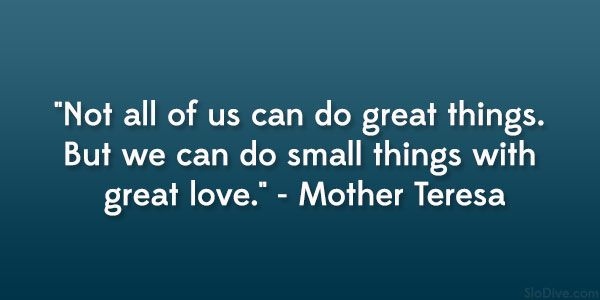 Mother Teresa Quotes On Serving Others Quotesgram