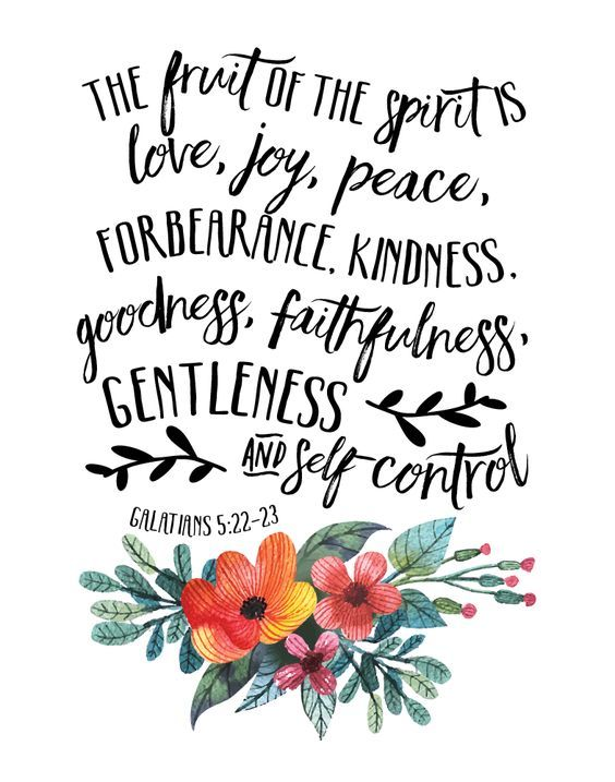 Bible Verse Prints But The Fruit Of The Spirit Is Love Joy