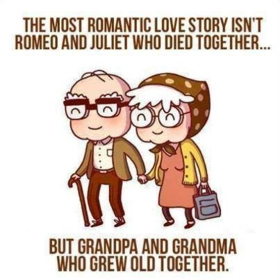 Growing Old Together Is The True Love Story Love My Grandma Grandpa