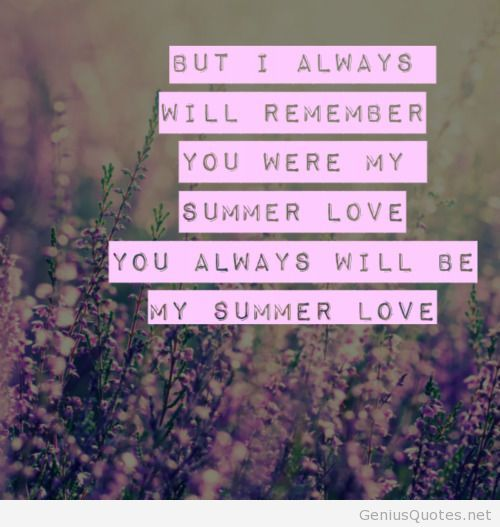 Wonderful Summer Cute Love Quote