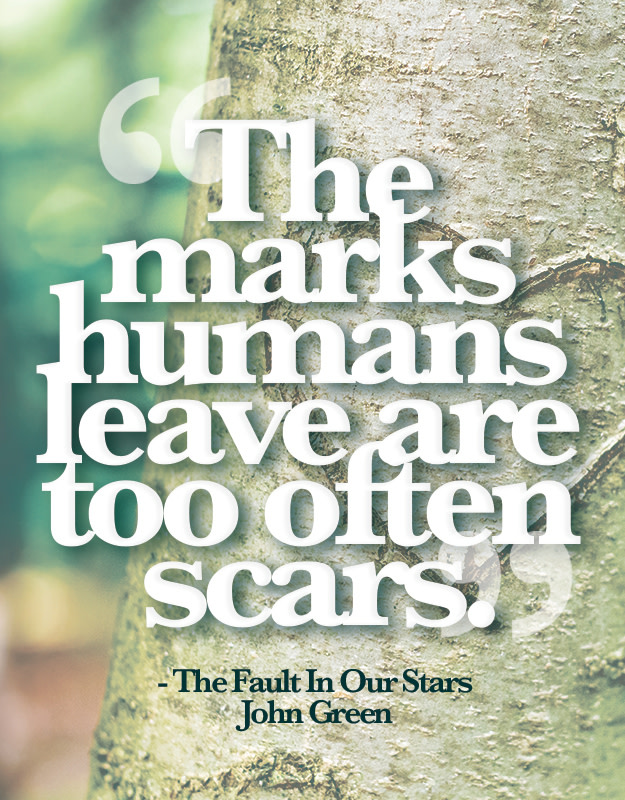 The Marks Humans Leave Are Too Often Scars